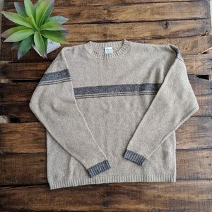Mens Vintage Style Columbia Wool Blend Pullover